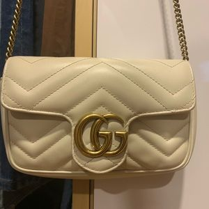 White Super Mini GG Marmont Bag ✨